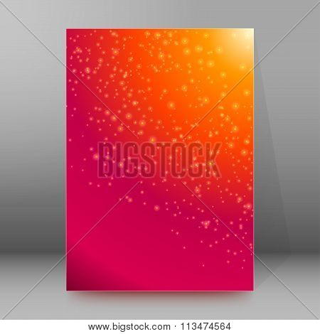 Fireworks Star Cover Page Brochure Background