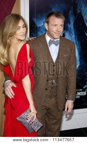 Guy Ritchie and Jacqui Ainsley at the Los Angeles Premiere of