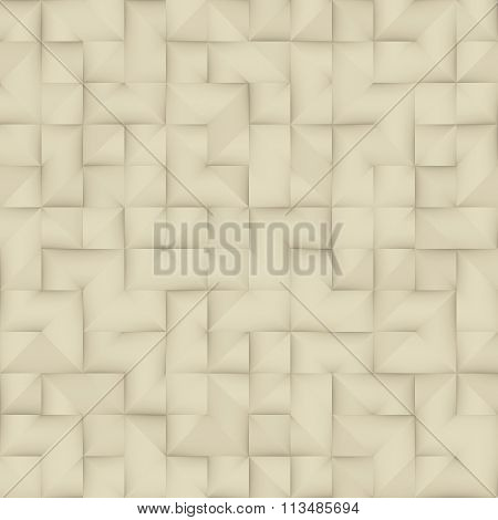Raster Seamless Greyscale Vintage Folded Paper Geometric Square Pattern