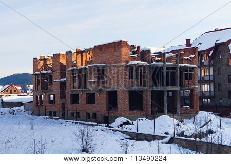 The old building burned