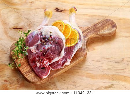 Free Range Duck Legs With Herbs And Oranges