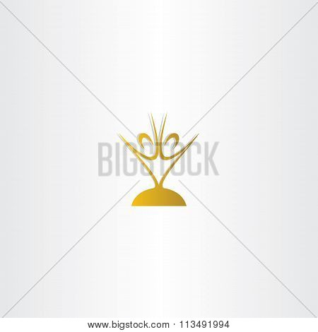 Golden Chalice People Vector Logo