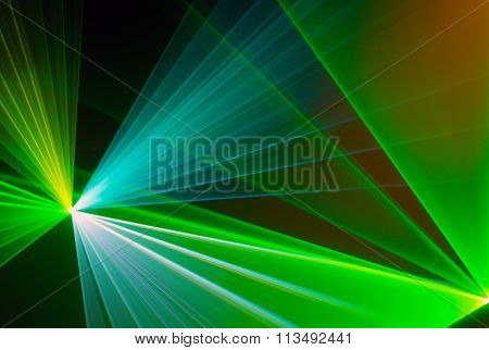 Colourful Abstract Laserlight Background With Space For Text Or Image