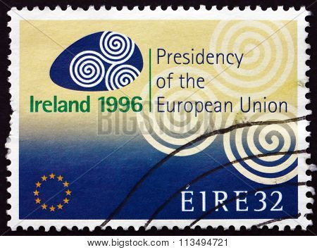 Postage Stamp Ireland 1996 Ireland's Presidency Of The European