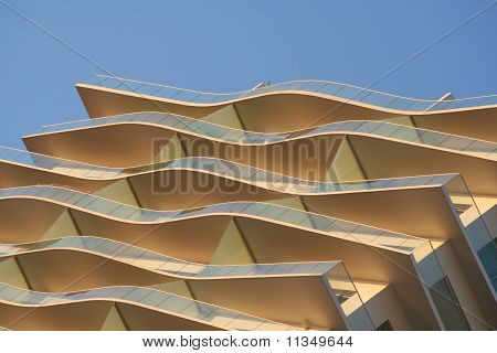 Curvy Balconies of Modern Building