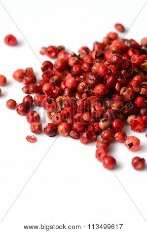 Pink Peppercorns Close Up