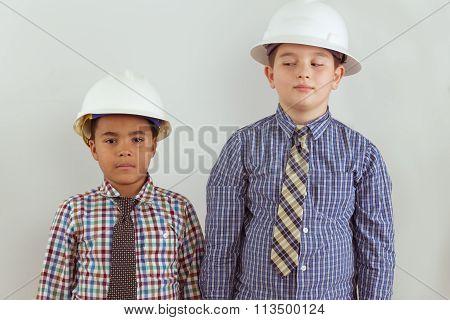 Two Young Aspiring Tween Engineers