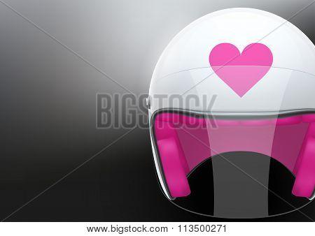 White woman Motorcycle helmet