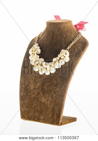 jewelry necklace on mannequin
