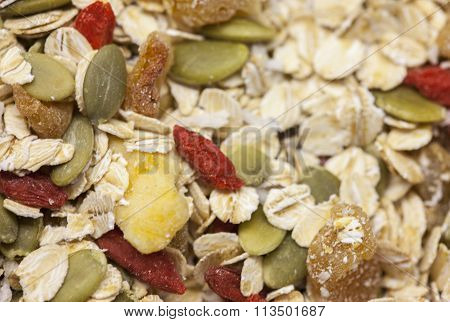 Seeds and dried fruit