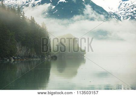 Mountain landscapes in Alaska USA