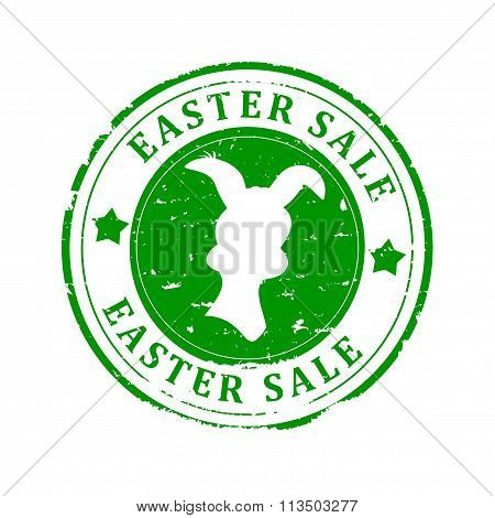 Damage To The Green Round Stamped - Easter Sale - German - Illustration