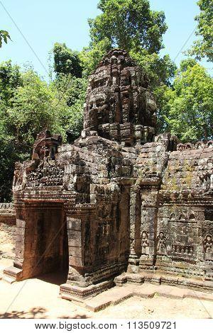 Western gopuram at Ta Som in Angkor Siem Reap Cambodia