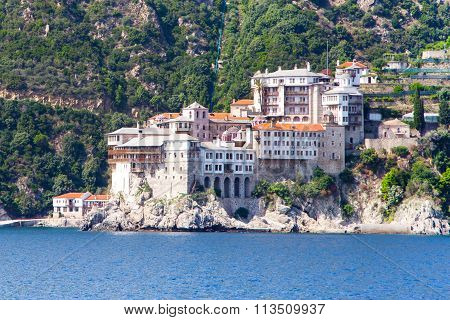 Agia Grigoriou Orthodox monastery at Mount Athos,  Halkidiki , Greece