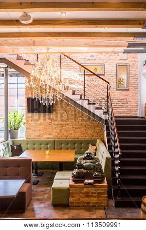 Staircase In Cosy Restaurant