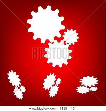 Settings icon vetor  set. Isometric effect