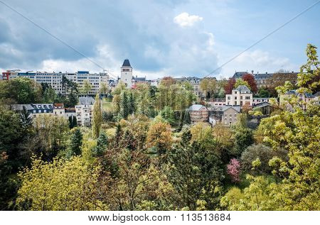 Traditional architecture buildings in Luxembourg