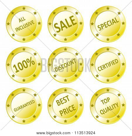Various Sales Seals