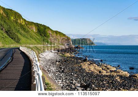 Antrim Coastal Road In Northern Ireland