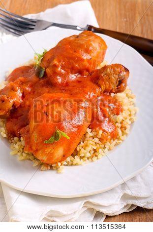 Chicken Drumsticks In Tomato Sauce