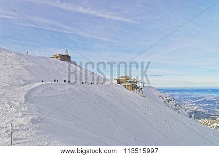 Meteorological Station In Kasprowy Wierch Top Of Zakopane In Winter