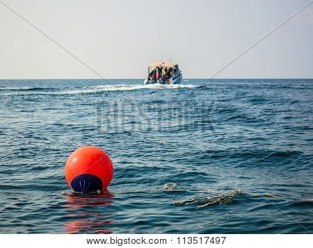 Territory Buoy In The Sea
