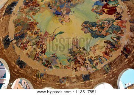 Portofino Frescoed Ceiling