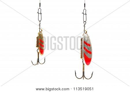 fishing spinning lure isolated on white background