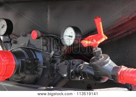 Faucet And Pressure Gauge Fire Truck