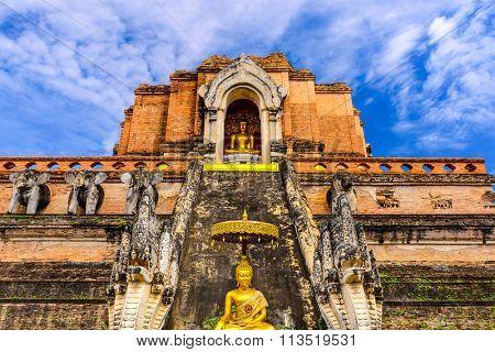 Chiang Mai, Thailand at Wat Chedi Luang.