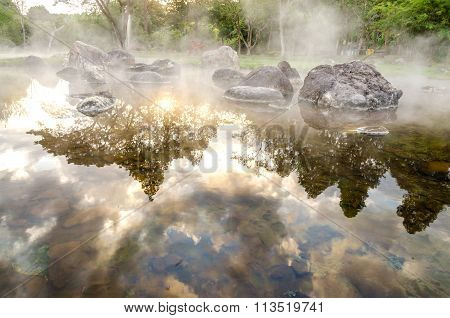 Hot Spring In Chae Son National Park, Lampang Province, Thailand