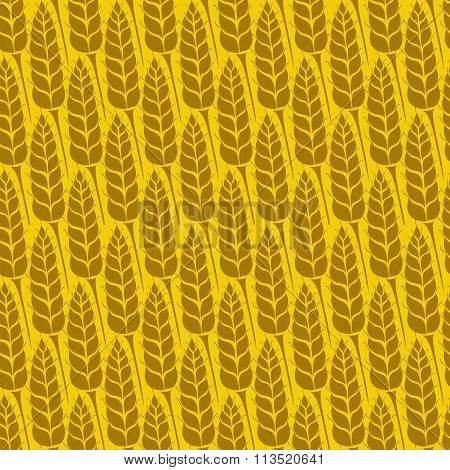 Vector pattern with grains and wheat
