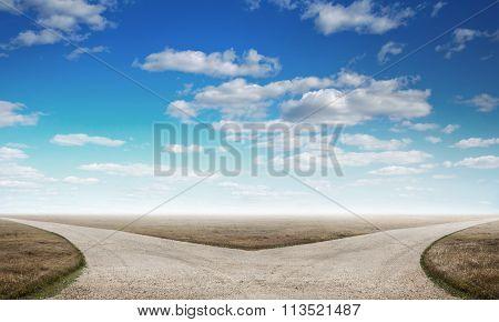 Countryside crossroad image