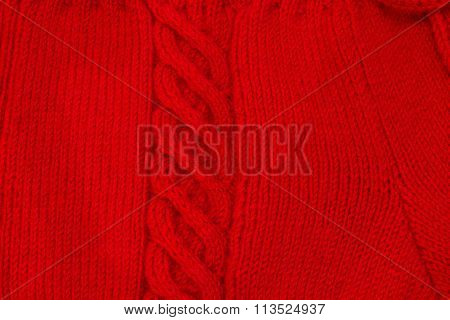 Texture Of  Knitting Fabric With A Scythe