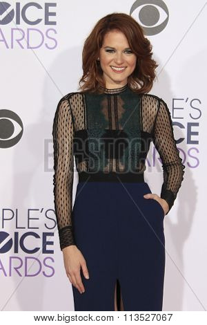 LOS ANGELES - JAN 6:  Sarah Drew at the Peoples Choice Awards 2016 - Arrivals at the Microsoft Theatre L.A. Live on January 6, 2016 in Los Angeles, CA