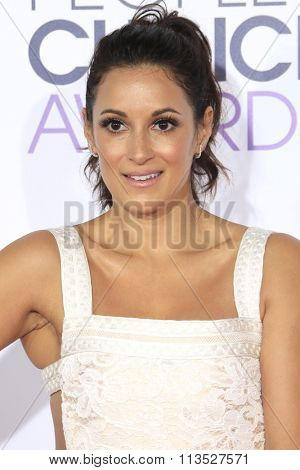 LOS ANGELES - JAN 6:  Angelique Cabral at the Peoples Choice Awards 2016 - Arrivals at the Microsoft Theatre L.A. Live on January 6, 2016 in Los Angeles, CA
