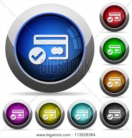 Credit Card Verified Button Set