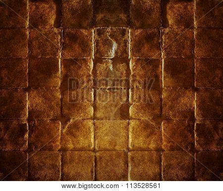 Old brick stone pavement texture.