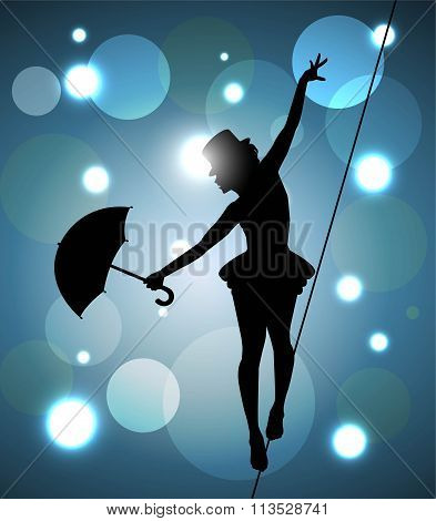 tightrope walker girl