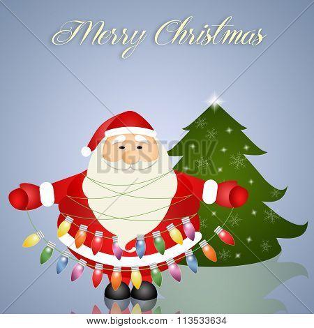 Santa Claus With Christmas Light