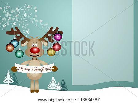 Reindeer With Christmas Balls