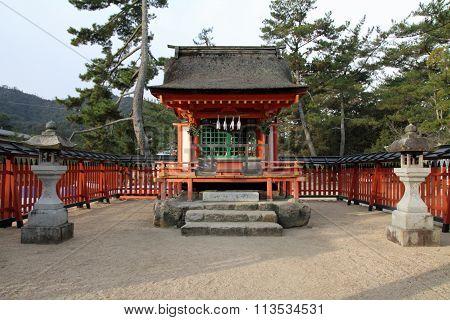 Kiyomori Shrine in Aki Miyajima Hiroshima Japan