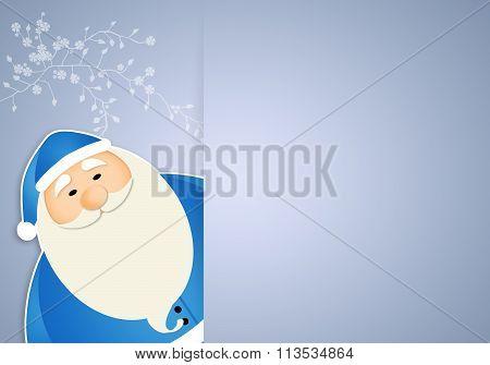 Blue Santa Claus For Christmas