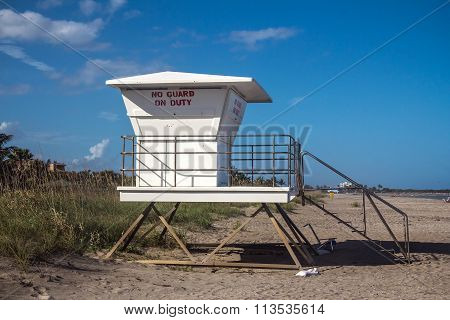 Life Guard Station Closed
