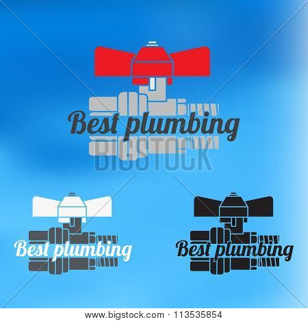 Best Plumbing Design For Business Sign. Vector Icon.