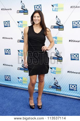 Hope Solo at the 2012 Do Something Awards held at the Barker Hangar in Los Angeles, USA on August 19, 2012.