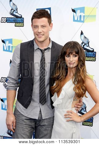 Cory Monteith and Lea Michele at the 2012 Do Something Awards held at the Barker Hangar in Los Angeles, USA on August 19, 2012.