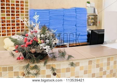 Christmas decoration at the reception
