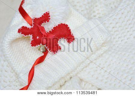 Red Deer Christmas Handmade Fleece