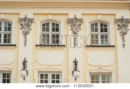 Beautiful Window In The Old Building In Lvov